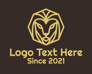 Crypto Currency - Minimal Lion Head logo design