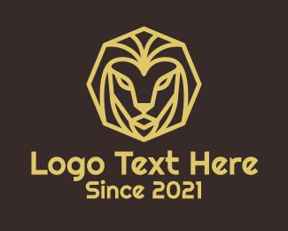 Minimal - Minimal Lion Head logo design