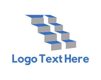 Stairs - Upstairs Arrow logo design