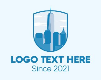 Chicago - New York Skyline logo design