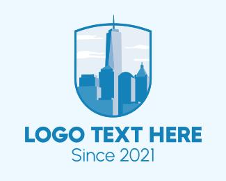 New York - New York Skyline logo design