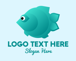 Pet Store - Green Pet Flatfish logo design