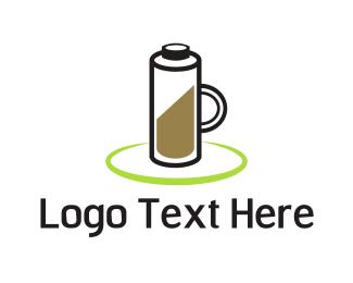 Battery - Coffee Battery logo design