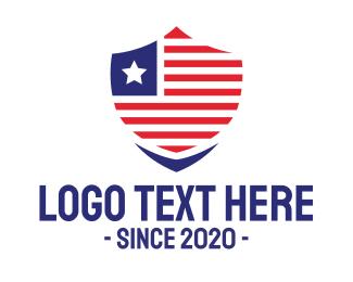 Secure - USA Security Badge logo design