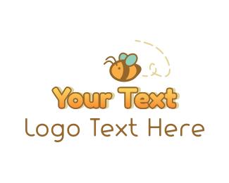 Nectar - Cute Honey Bee logo design