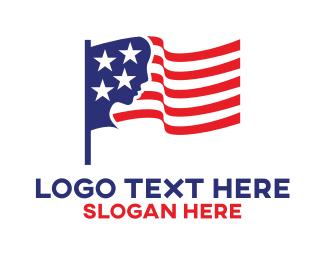 Country - American Woman logo design