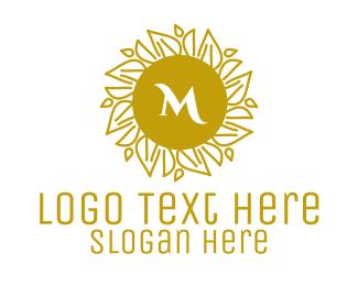 Flora - Luxurious Stroke Pattern Lettermark logo design