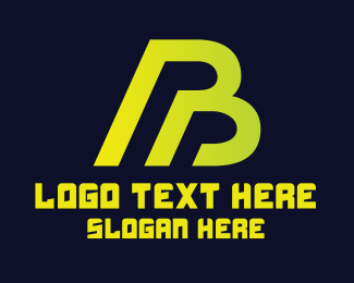 Free Weight - Yellow Green Letter B logo design