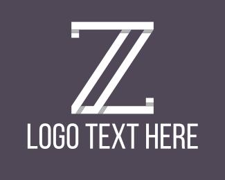 Letter Z - White Letter Z logo design