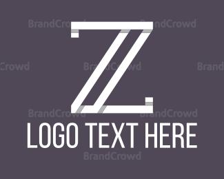 Simple - White Letter Z logo design