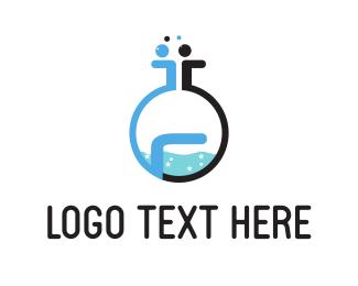 Pharmacology - Chemistry Lab  logo design