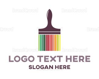 Code - Colorful Brush Code logo design