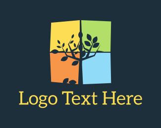 Winter - Seasons Tree logo design