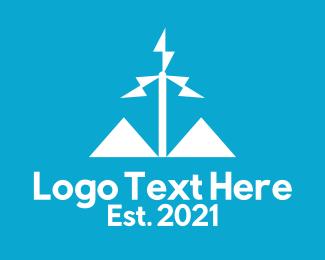 Wind Mill - White Wind Turbine  logo design