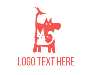 Cat And Dog - Bird Cat Dog logo design