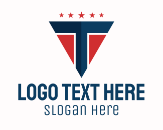 Patriotic - Patriotic Letter T logo design