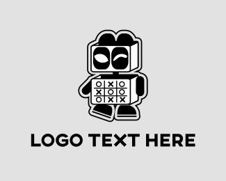 Cartoon - Panda Robot logo design