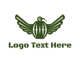 Fly - Flying Grenade logo design
