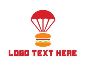 Burger - Burger Parachute logo design