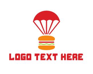 Parachute - Burger Parachute logo design