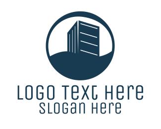Building - Blue Building Circle logo design