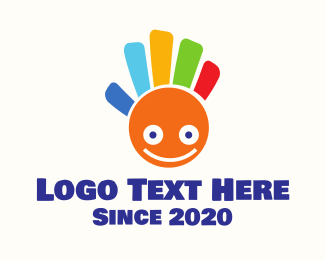 Creativity - Colorful Happy Hand logo design