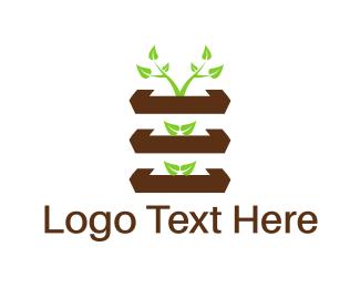 Hydroponic - Vertical Garden logo design