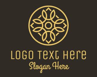 Elite - Gold Luxury Radial Decor logo design