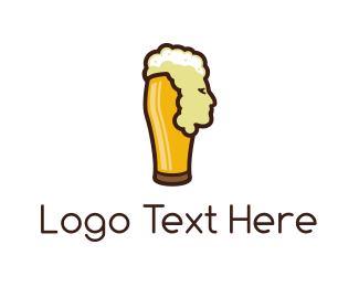 Brewer - Beer Head logo design