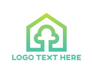 Renewable - Tree House logo design