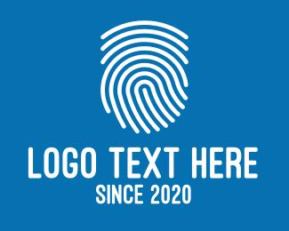 Id - White Fingerprint logo design
