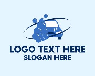 Bubbles - Blue Car Wash Bubbles logo design