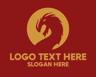 Legend - Angry Dragon Mascot logo design