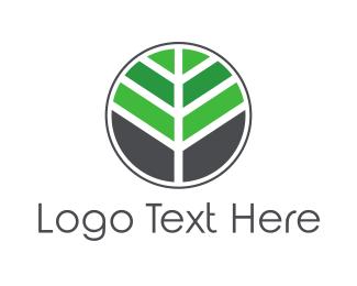 Mosaic Tree Leaf Logo