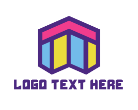 Town - Abstract Mosaic Style Home logo design