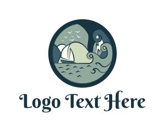 Ship - Ocean Circle logo design