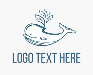 Folder - Big Whale Files logo design