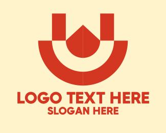 Letter U - Geometric Letter U logo design