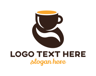 Coffee Maker - Coffee Bean logo design