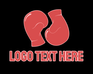 Boxing - Red Boxing Gloves logo design