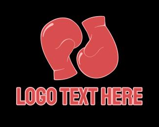 Fight - Boxing Gloves logo design
