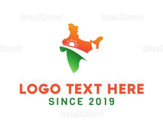 India - India Sunrise logo design