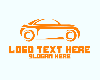 Car Parts - Sporty Orange Car logo design