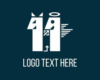 Hell - Devil & Angel logo design