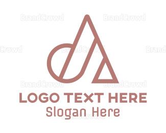 Advertising - Geometric A Outline logo design