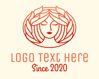 Skincare - Beauty Woman Face Hair logo design