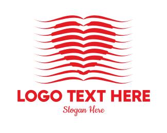 Publication - Book Heart logo design