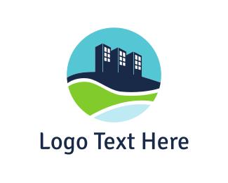 Builder - Eco City Builder logo design