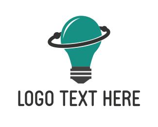 Space - Space Lamp logo design