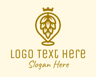 Brewery - Gold King Hops Brewery logo design